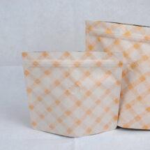 夾鏈站立包裝袋咖啡袋印刷白金格紋日式袋型113四分之一磅底部