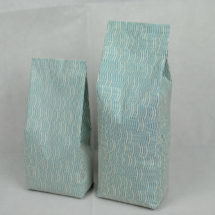合掌夾邊咖啡茶葉包裝袋-米白印刷底紋2