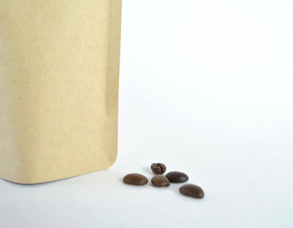 咖啡豆包裝袋材料夾鏈站立袋掛耳袋合掌夾邊袋-牛皮紙3
