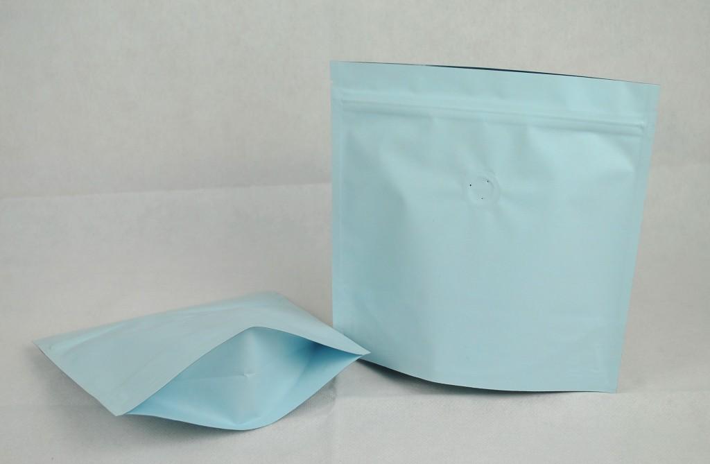 夾鏈站立包裝袋咖啡袋印刷藍色日式袋型半磅227g底部