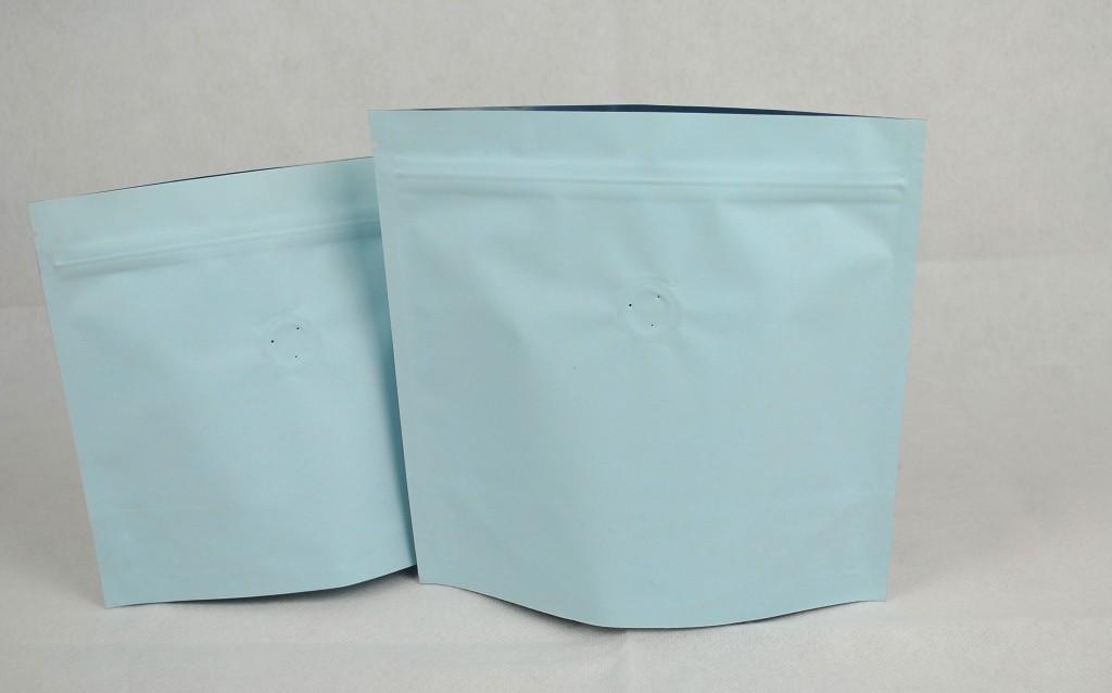夾鏈站立包裝袋咖啡袋印刷藍色日式袋型半磅227g