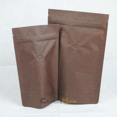 深咖啡色公版夾鏈站立袋-四分之一磅 120克4ozdeepbrowncoffeezipperbag1