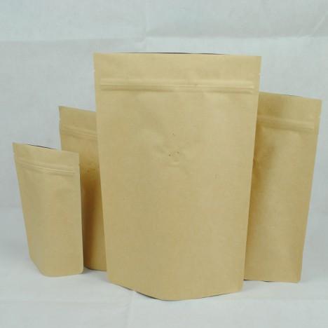 牛皮夾鏈站立袋-一磅454g16ozkraftcoffeezipperbag
