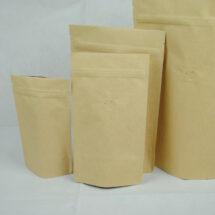 牛皮夾鏈站立袋-四分之一磅 120克4ozkraftcoffeezipperbag