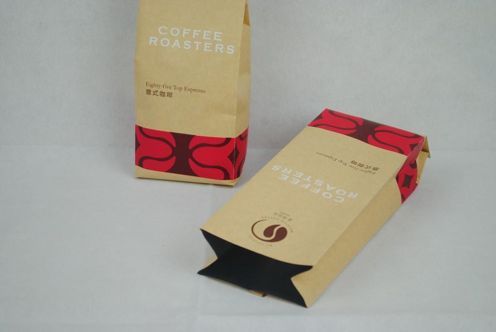 牛皮紙咖啡茶葉合掌包裝袋印刷-套色印刷4