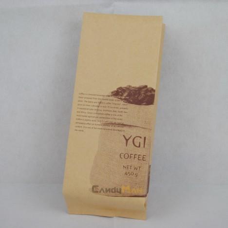 牛皮紙咖啡茶葉合掌包裝袋印刷-漸層印刷1