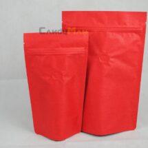 紅色公版夾鏈站立袋-四分之一磅 120克4ozkraftcoffeezipperbag.JPG