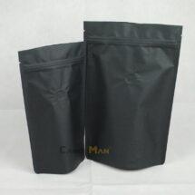 黑色公版夾鏈站立袋-1kg一磅454g半磅227g四分之一磅 120克4oz8oz16ozdeepblackcoffeezipperbag