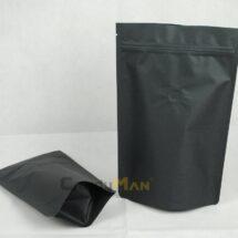黑色公版夾鏈站立袋-1kg一磅454g半磅227g四分之一磅 120克4oz8oz16ozdeepblackcoffeezipperbag1