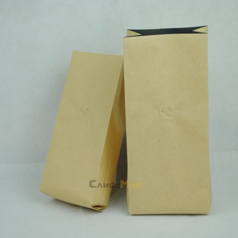 牛皮紙公版合掌夾邊袋-1kg一磅454g半磅227g四分之一磅 120克50克50g4oz8oz16ozkraftcoffeebagwithvalvecenter seal bag01