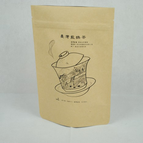 kraft zipper bag with valve printing2