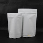 白牛皮夾鏈站立袋 掛耳袋 咖啡茶葉包裝袋 (2)