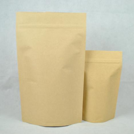 牛皮紙一公斤夾鏈站立袋 合掌包裝袋
